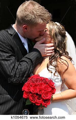 新娘和新郎, 亲吻