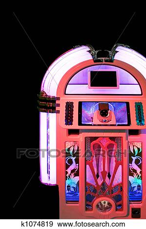 Free vector graphic jukebox music music player free image on - Stock Photograph Of Jukebox Pink K1074819 Search Stock