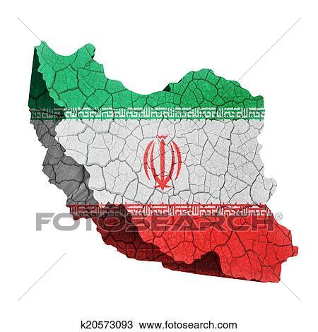 手绘图 - 伊朗人, 地图