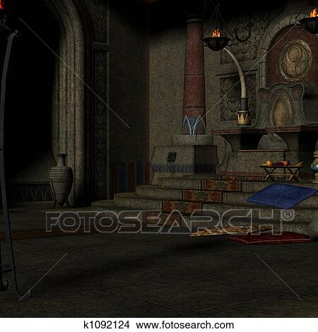Drawing Room Clipart Drawing Fantasy Throne Room