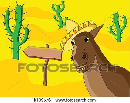Clipart mexicain cheval k1095761 recherchez des clip arts des illustrations des dessins - Clipart cheval ...