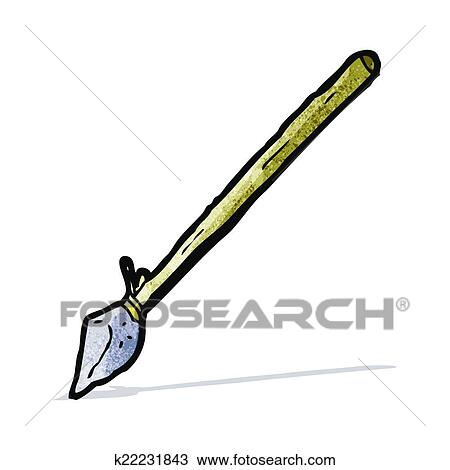 clipart of cartoon primitive spear k22231843 search clip art rh fotosearch com primitive christmas clipart primitive clip art free printable