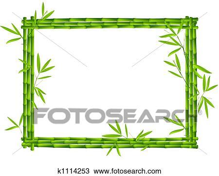 手绘图 - 竹子, 框架
