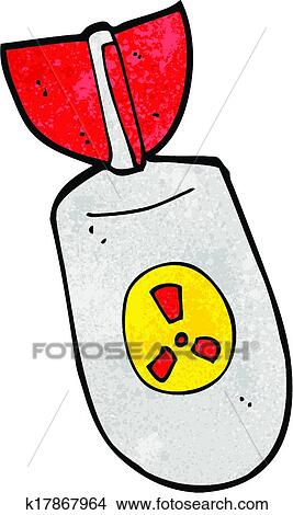 clipart of cartoon atom bomb k17867964 search clip art rh fotosearch com
