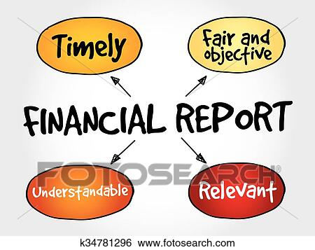 clip art of financial report mind map k34781296 search clipart rh fotosearch com mind clipart png xmind clipart