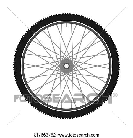 clipart of isolated bicycle wheel k17663762 search clip art rh fotosearch com wheelchair clipart wheel clipart black and white