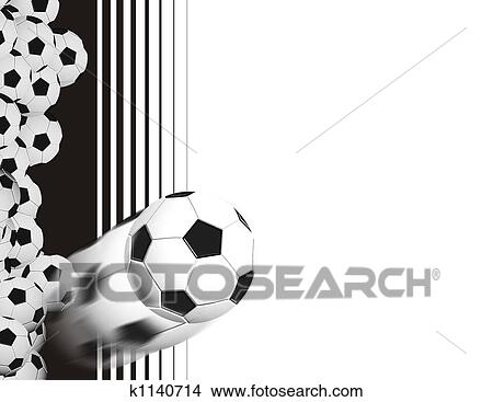 手绘图 - 足球, 背景图片
