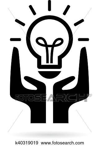 Clip Art Of Save Electricity Symbol K40319019