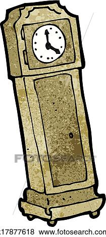 Clipart dessin anim horloge grand p re k17877618 recherchez des cliparts des - Dessin grand pere ...