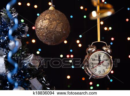 stock foto weihnachten ball clock serpentine a. Black Bedroom Furniture Sets. Home Design Ideas