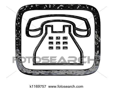 Simbolo Telefone Vetorizado Telefone Símbolo Pretas