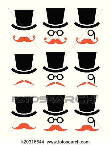 年长者,同时,带,姜,小胡子,蛋糕,,玻璃杯,图标,v同时,在怀特肉松绅士能保存多久图片