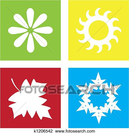 Four seasons Illustrations and Stock Art. 1,664 four seasons ...