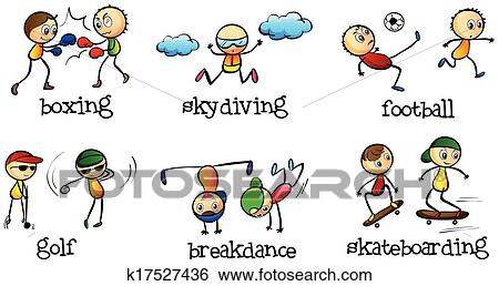 Clip Art of Activities that can be done indoor and outdoor ...