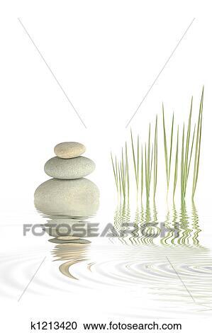 Banques de photographies zen cailloux et bambou for Separation herbe cailloux