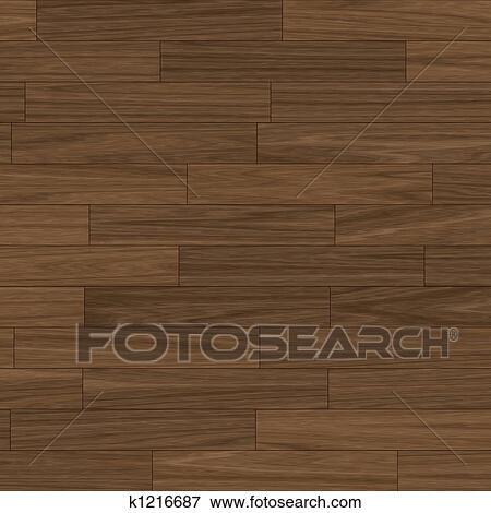 스톡 일러스트 - 암흑, 갈색의, 쪽매 세공을 한 마루, 바닥 k1216687 ...