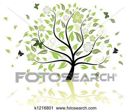 剪贴画 - 树, 模式图片