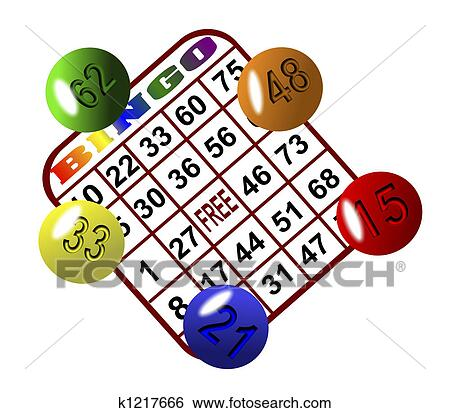 Stock Illustration - Bingo 6. Fotosearch - Search Clip Art, Drawings ...
