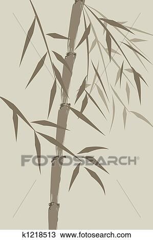 Dessin conception de chinois arbres bambou k1218513 recherchez des cliparts des - Dessin arbre chinois ...