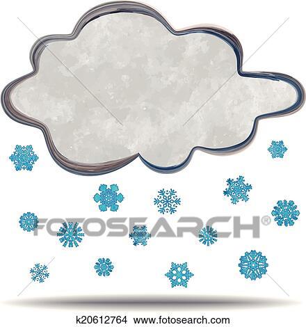 Clipart of climate. Cloud snowing k20612764 - Search Clip Art ...