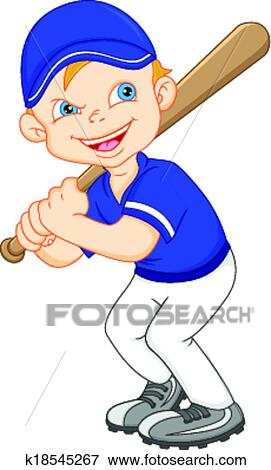 clip art of boy cartoon baseball player k18545267 search clipart rh fotosearch com basketball player clipart free basketball player clipart