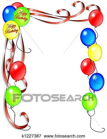 Stock Illustration   Geburtstagseinladung, Luftballone. Fotosearch   Suche  Clipart Zeichnungen U0026 Illustrationen