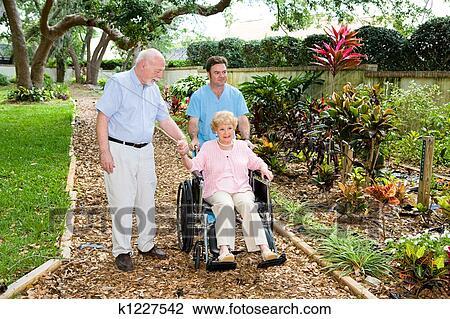 stock photo nursing home gardens fotosearch search stock