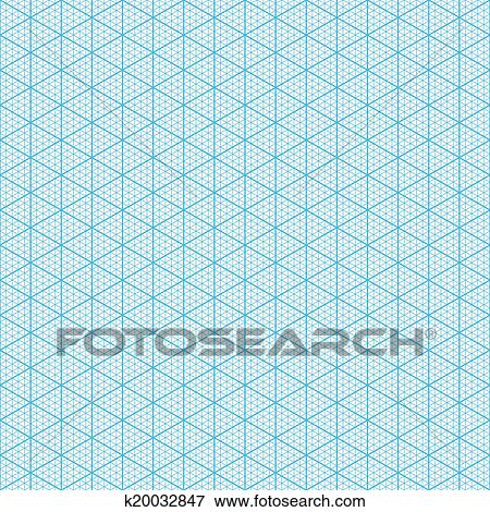 Clip Art Of Isometric Graph Paper K  Search Clipart
