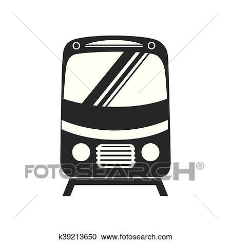 clipart of tramcar train subway icon vector graphic k39213650 rh fotosearch com clipart subway train clipart subway train