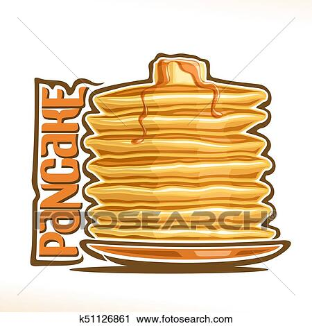 clipart of vector logo for pancake k51126861 search clip art rh fotosearch com pancake clip art breakfast pancake clip art black and white