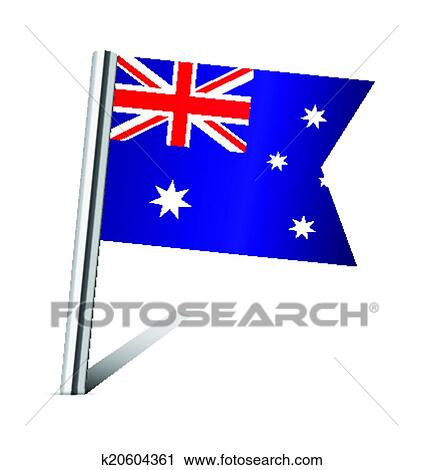 clipart of australia flag pin k20604361 search clip art rh fotosearch com australia clip art for kids australia clip art for kids