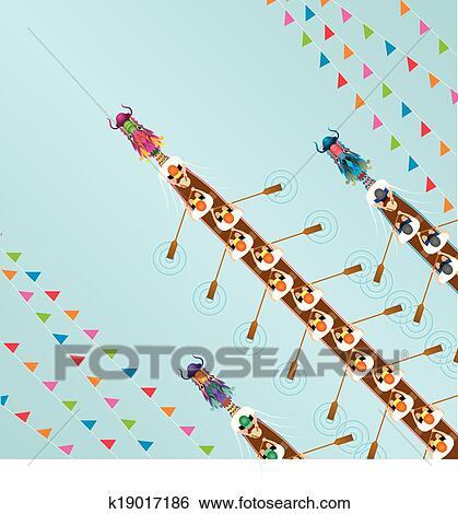 Clipart of Dragon boat festival illustration k19017181 - Search ...