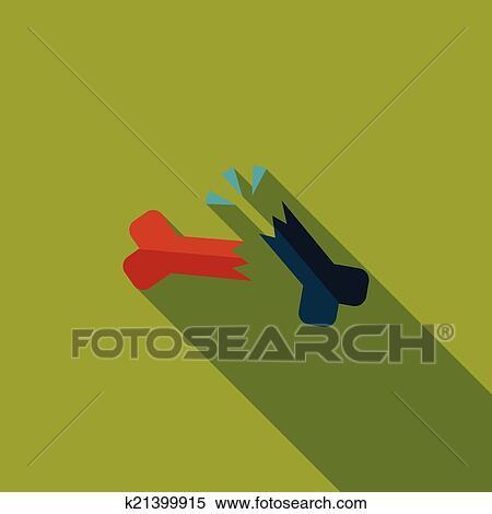 Clipart Bone Fracture Flat