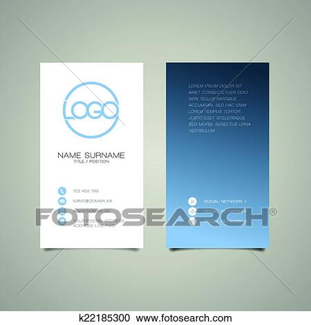 Clipart of modern simple vertical business card template k22185300 clipart modern simple vertical business card template fotosearch search clip art illustration flashek Gallery