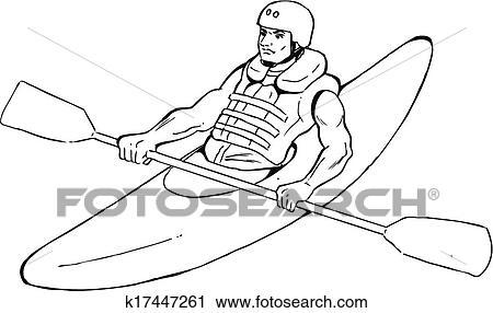 Clipart Of Kayaking K17447261