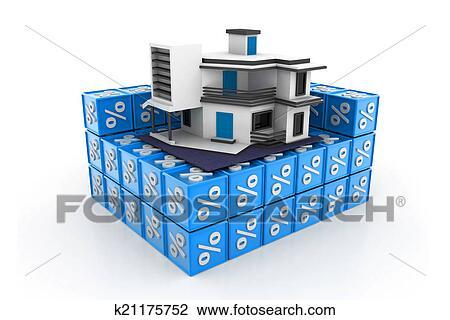clipart maison pourcentage symbole k21175752 recherchez des cliparts des illustrations. Black Bedroom Furniture Sets. Home Design Ideas