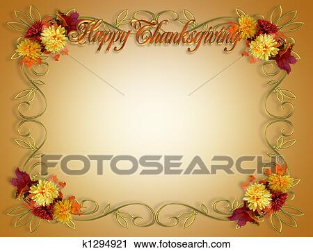 Clipart Of Thanksgiving Fall Autumn Border K1294921