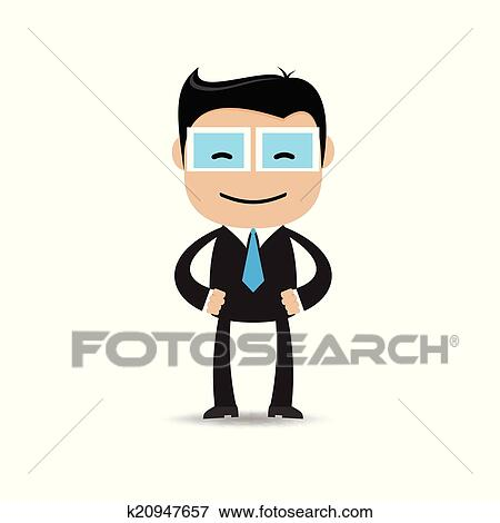 clip art of happy businessman in various poses k20947657 search rh fotosearch com businessman clipart black and white businessman clipart vector