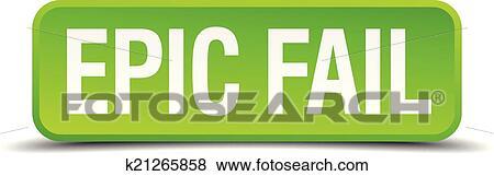 Epic Fail Clipart Clip Art Epic Fail Green 3d