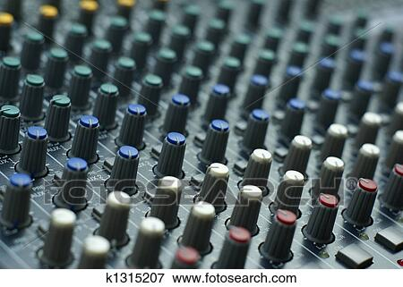 Фотография. Show similar pictures. consol фото - Audio mixer console with