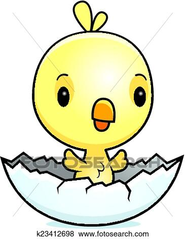 clip art of cartoon baby chick hatching k23412698 search clipart rh fotosearch com cartoon baby chicken hawk cartoon baby chicks images