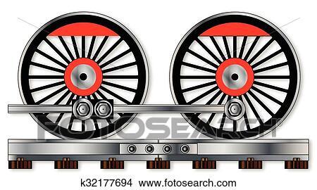 clipart of pair of train wheels k32177694 search clip art rh fotosearch com wheels clipart black and white wheels clipart