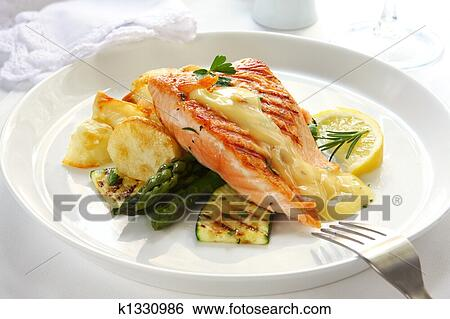 Stock Images of Salmon Dinner k1330986 - Search Stock ...