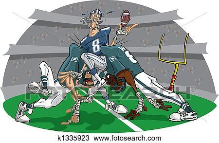 Dessin jonc dans football am ricain jeu k1335923 recherchez des cliparts des - Dessin football americain ...