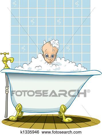 Colecci n de ilustraciones tiempo ba o para beb k1335946 buscar clip art ilustraciones - Temperatura bano bebe ...