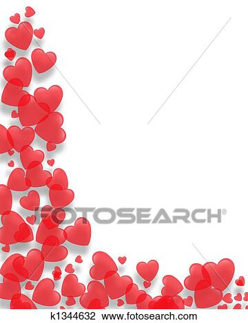 Clip Art Valentines Day Borders Clip Art clip art of valentines day border hearts k1344632 search clipart fotosearch illustration posters