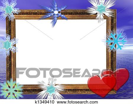 banque d 39 illustrations cadre pour mariage anniversaire ou jour valentine invitations. Black Bedroom Furniture Sets. Home Design Ideas