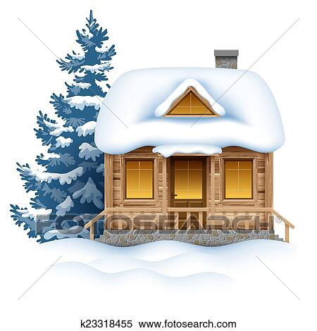 Clipart Of Winter House K23318455