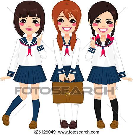 Japanese school winter uniforms