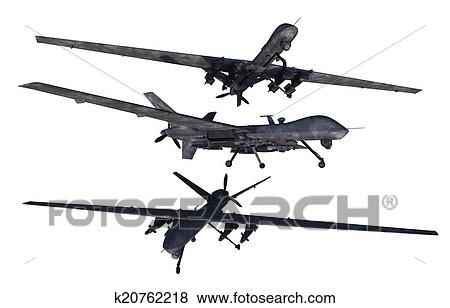 Stock Illustration Of Unmanned Military Drones K20762218